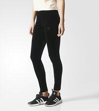 ADIDAS Originals Womens Brklyn Heights VELVET Leggings Black Size S , M