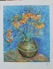 """Vincent Van Gogh """"Crown Imperial Fritillaries in a Copper Vase"""" color lithograph"""