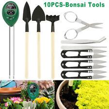 10Pcs Bonsai Tools Gardening Kit Soil pH/Moisture Meter Bud Leaf Scissor Garden