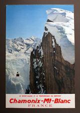 Affiche ancienne originale Chamonix-Mont Blanc - chromophotographie