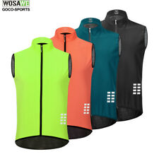Summer Cycling Vest Reflective Sportswear Breathable Short Jersey Sleeveless Top