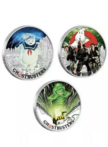 2017 Complete 3-coin SET GHOSTBUSTERS..PCGS MS70…First Day Of Issue….