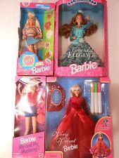 Barbie Lot of 4 Emerald Elegance, Pog Fun, Very Velvet & Me and My Mustange NRFB