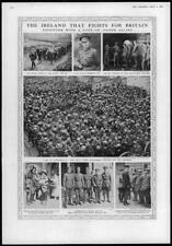 1916 ANTIQUE PRINT-Irlande Royal Irish Redmond North lancashires Ranger (277)