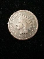 1865 Indian Head Small Cent 1C