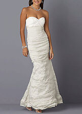 NICOLE MILLER SWEETHEART ORGANZA TECHNO BRIDAL WEDDING GOWN DRESS 10 $880 EA0040