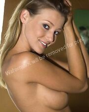 Carli Banks Artistic Nude Sexy Busty Blonde 8x10 Glossy Color Photo Model Image