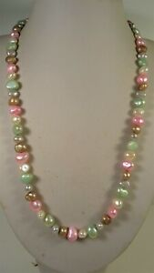 Lee Sands Wacky Friday 9-10mm Pastel Cultured Freshwater Pearl Nugget Necklace
