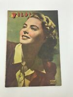YILDIZ #113 - Turkish Magazine - 1940s - INGRID BERGMAN COVER - Ultra Rare - ADS