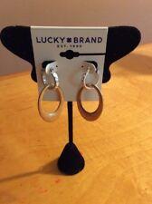 $29  Lucky Brand two tone interlocking hoop drop earrings lj12