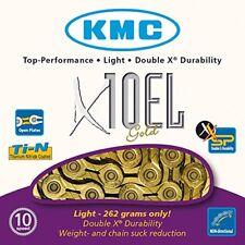 Cadena KMC X10el dorado 10v 114 links
