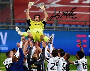 Gianluigi Buffon Autograph Signed Photo Coppa Italia Juventus