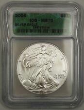 2004 1 Oz 999 American Silver Eagle ICG MS-70 BU ASE Coin