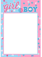 Baby Shower Gender Reveal Party Boy or Girl Photo Booth Props Frame Decorations