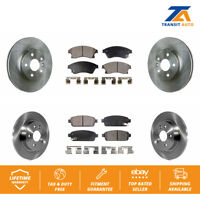 Front Rear Disc Rotors & Ceramic Brake Pads Fits Chevrolet Cruze Sonic Limited