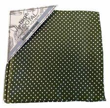 Tootal 100% Silk Parka Green Pin Dot Pocket Square