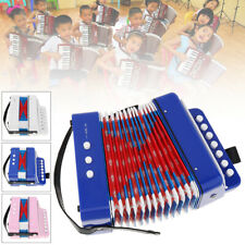 Kids Children 7-Key 2 Bass Mini Small Accordion Educational Musical  Gifts Blue