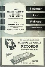 Rochester Civic Orchestra Program March 28 1948 Harvard Glee Club