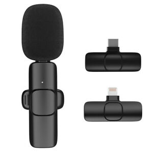 Wireless Bluetooth Lavalier Microphone Mic For iPhone Vlog Live Stream Type-C
