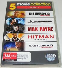 Die Hard 4.0 / Jumper / Max Payne / Hitman / Babylon A.D---(Dvd 5 Disc Set)