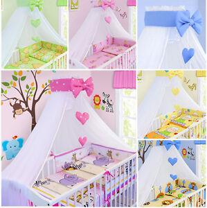 BABY BEDDING SET COT COTBED 3 6 10 14 PCS PILLOW DUVET COVER BUMPER CANOPY
