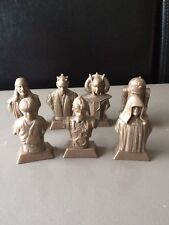 7 figurines Star Wars - collection Kellogs - complets avec messages secrets