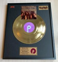 Deep Purple Machine Head 1972 Vinyl Gold Metallized Record Mounted In Frame