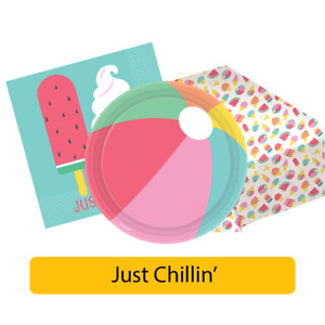 JUST CHILLIN' Party Range - Summer BBQ Barbecue Watermelon Tableware Decorations