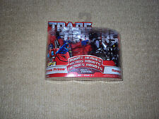TRANSFORMERS ROBOT HEROES, OPTIMUS PRIME AND RAVAGE, HASBRO, ACTION FIGURES, NM