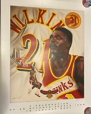 Dominique Wilkins Atlanta Hawks Jersey Retirement Party Signed Poster Print