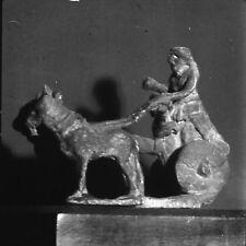 BABYLONE c. 1960 - Statuette Attelage Antique Sumerien - Négatif 6 x 6 - IRAK 26