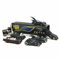 7PCS Batman Batmobile & Container Truck Car Model Toy Vehicle Christmas Gift
