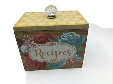 Pioneer Woman Blossom Jubilee Floral Wood Recipe Box NEW