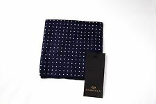 Fashion Silk Pocket Square by Farrell - blue white dotted Handkerchief