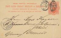 "GB 1895 QV 1d superb postcard Duplex ""LONDON-N / N / 26"" clock code NOT KNOWN"