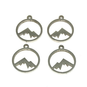 hypoallergenic 201 stainless steel 12mm mountain southwest boho nature charms