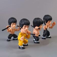 4pcs/set Bruce Lee Kung Fu Pvc Action Figures Collection Car Home Desk Decor