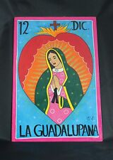 Mexican Folk Art Painting of Nuestra Señora de Guadalupe, Virgin of Guadalupe