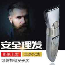 Waterproof Low Noise Adjustable Speed Wireless Hair Clipper Rechargeable