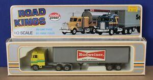 Model Power Playart  7752-4 Road Kings HO 1:87  Kenworth COE Semi Budweiser MIB