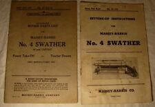 1949 Vintage Original Massey Harris No.4 Swather Parts List Catalog Manual