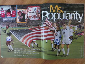 1996 US Women's Olympic Soccer Team signed photo Scurry Fawcett Overbeck Parlow