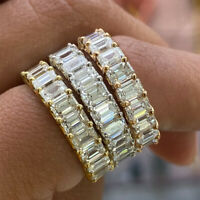 Fashion Rings for Women 925 Silver,Rose Gold,Gold White Sapphire Ring Size 6-10