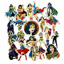 Female Superhero Characters Assorted Decals Lot of 20 Stickers