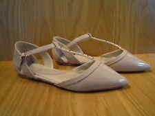 Carvela Ladies Shoes Size 5 T Bar Flats Nude Kurt Geiger Pointed Toe Shoe NEW