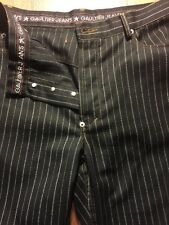 Vintage Gaultier Jeans Men's Pants Dark Brown Trousers Size 33 Striped