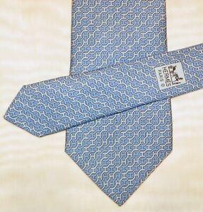 HERMES [ PARIS ] { 5481 FA } men's tie 100% Silk  Made in France