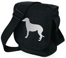 More details for deerhound dog bag shoulder bags metallic silver black handbag mothers day gift