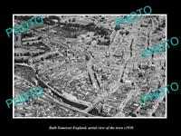 OLD LARGE HISTORIC PHOTO OF BATH SOMERSET ENGLAND, VIEW OF THE TOWN c1930 2
