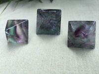 Fluorite Octahedron Gemstone Specimen Reiki Chakra Healing Metaphysical. One.